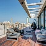 Carmel Market Two Bedroom Sea View Penthouse - Balcony View